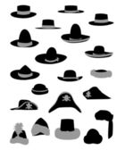 Silhouettes fashion hat vector — Stock Vector