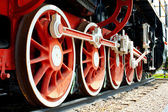 Travell about locomotive — Stock Photo