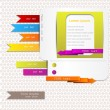 Website elements. Colorful arrows and bookmarks — Stock Vector