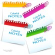 Stock Vector: Colorful paper notes with place for text