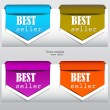 "Colorful arrows and bookmarks ""bestseller"" — Stock vektor"