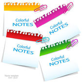 Colorful paper notes with place for text — Stock Vector