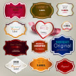 Set of Superior Quality and Satisfaction Guarantee Badges, Label - Stok Vektör