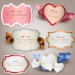 Set of  holiday banners and labels with ribbons. Vector backgrou - Stock Vector