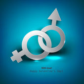 Abstract vector background with male female symbol — Stock Vector