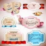 Постер, плакат: Set of Superior Quality and Satisfaction Guarantee Badges Label