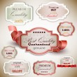 Set of Superior Quality and Satisfaction Guarantee Badges, Label — Stock Vector