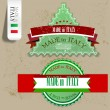 "Set of Badges, Labels, Tags ""Made in Italy"". Vector illustration - ベクター素材ストック"