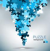 パズルのピースから作られた抽象的な背景 — ストックベクタ