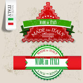 """Set of Badges, Labels, Tags """"Made in Italy"""". Vector illustration — Stock Vector"""