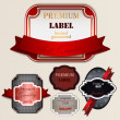 Set of Superior Quality and Satisfaction Guarantee Badges, Label - Stock Vector