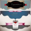 Set of holiday banners with ribbons. Vector background — Imagens vectoriais em stock