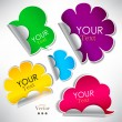 Colorful stickers and bubbles for speech — Stockvektor