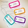 Set of bubbles, stickers, labels, tags. Vector template — Stock Vector #11662906