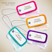 Set of bubbles, stickers, labels, tags. Vector template — Stock Vector