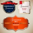 Set of Superior Quality and Satisfaction Guarantee Badges, Label — Stock Vector #11809878