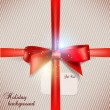 Holiday banner with ribbons. Vector background. — Stok Vektör