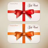 Samling presentkort med band. vektor bakgrund — Stockvektor