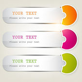 Colorful bookmarks for text — Stock Vector