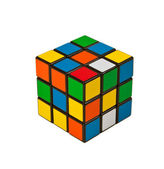 Puzzle cube isolated on white background. — Stock Photo