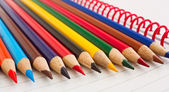Group of thick colored pencils. — Stock Photo