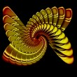 Stock Photo: Simulation of metal spiral