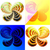 A set of four abstract square banners — Stock Photo
