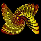 Simulation of a metal spiral — Stock Photo