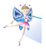 Garota - uma dançarina vestida como uma borboleta — Vetorial Stock