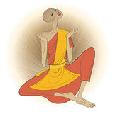 Buddhistický mnich — Stock vektor