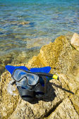 Schnorchel flossen, taucherbrille — Stockfoto