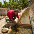 Stock Photo: Traditional irrigation job