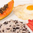 Hearty Central American breakfast — Stock Photo