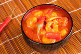 Spicy shrimps — Stock Photo