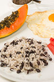 Central American breakfast — Stock Photo