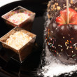 Chocolate apples — Stockfoto