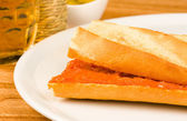 Sobrasada sandwich — Stock Photo