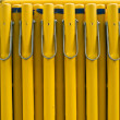 Royalty-Free Stock Photo: Yellow Barrier Security Objects