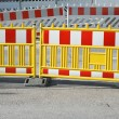 Pedestrian Barrier — Stock Photo