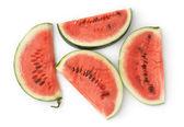 Vier Watermeloen slices — Stockfoto