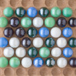 Marbles on Wood — Stockfoto #11609706