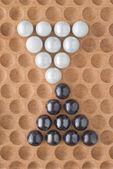 Marble Triangle Design — Stock Photo