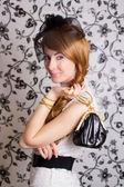 Glamouros 复古风格的女人 — 图库照片