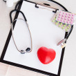 Medical heart check - Stockfoto