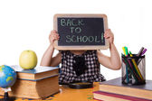 Back to school words on board — Stock Photo