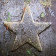 Old metallic Soviet star — Foto de Stock