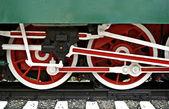 Старый паровой поезд — Стоковое фото