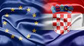 La unión europea y croacia — Foto de Stock