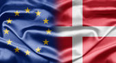 EU and Denmark — Fotografia Stock