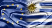 La unión europea y uruguay — Foto de Stock